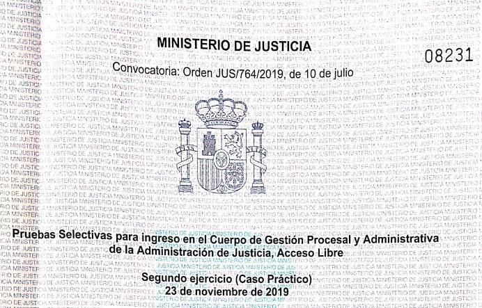Gestión Procesal examen 2019