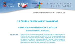 bolsa de interinos Cantabria justicia